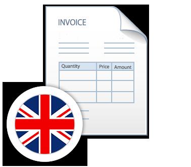 Faktura na rynek brytyjski